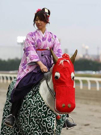 川崎競馬の誘導馬01月開催 獅子舞 和服Ver-120101-10