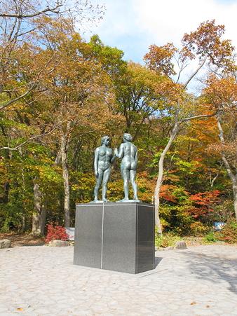 十和田湖畔 乙女の像
