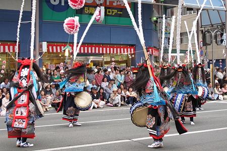 鹿踊りパレードにて