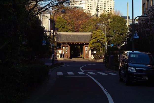 正面の山門