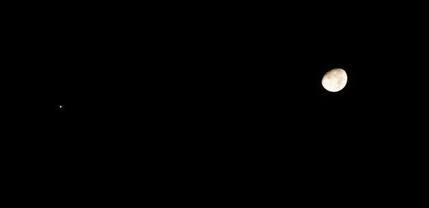 並走する月と木星