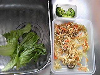 2012年3月20日のお昼の食材