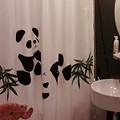 Photos: シャワーカーテンもパンダ