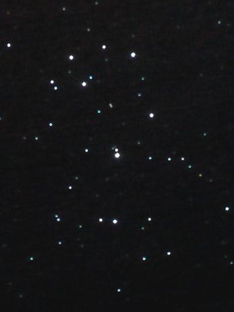 星夜習作2:昴をピクセル等倍で、プチHDR