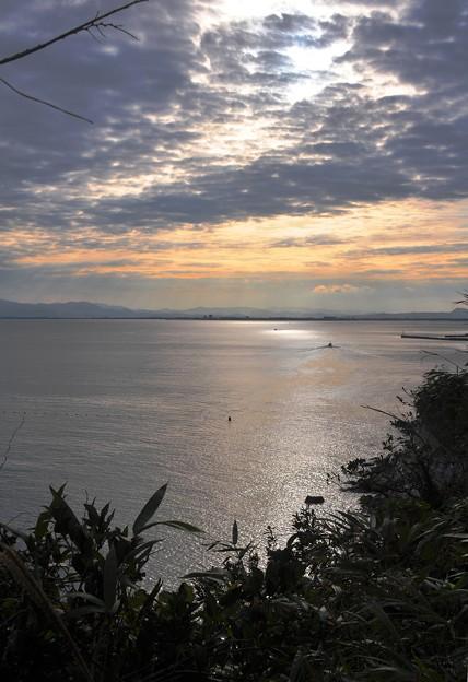 美保湾の夕焼け