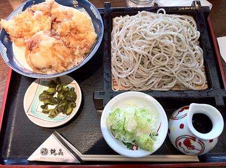 3/23 昼食 鶴喜 鶏天丼セット
