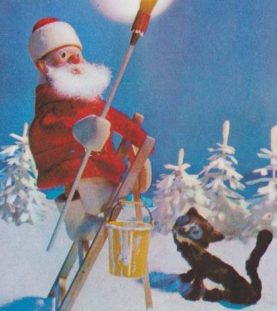 サンタさん、雪景色に塗り替える!拡大