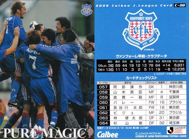 Jリーグチップス2006C-08チェックリスト(ヴァンフォーレ甲府)
