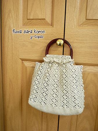 プラハンドルの手編みバッグ 4
