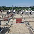 写真: ステージが組み上がり始めました! #mik2011