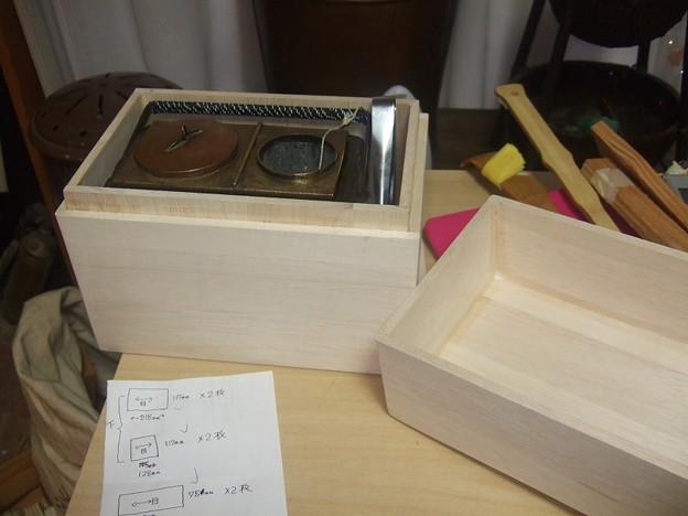 燗銅壺 収納木箱 DIY