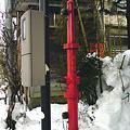 雪国の消火栓