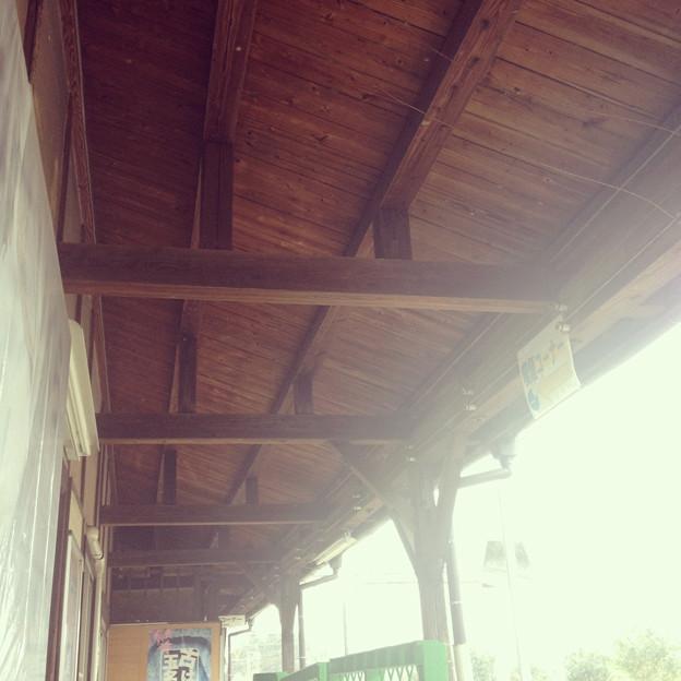 肥後伊倉駅木造駅舎。
