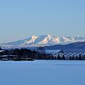 旭川農業高校 と 大雪の山々