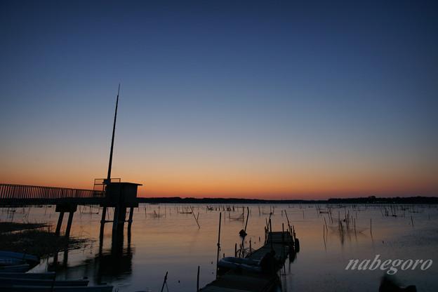 Photos: 印旛沼の朝焼け