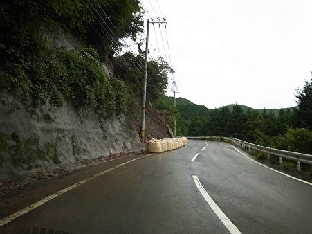 R424:切目辻隧道で龍神村に入る手前