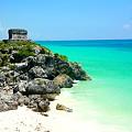 Photos: マヤ遺跡とカリブ海のコラボ。