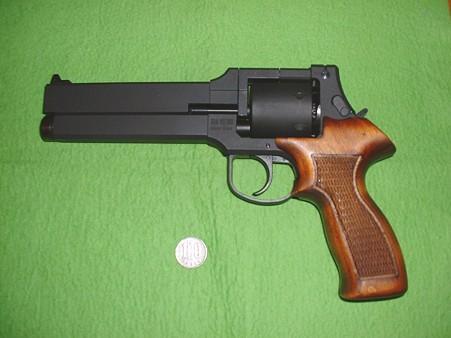 マルシン 「トグサの銃 マテバM-M2007」初回ロット(ただし グリップは別売り木製に交換済) 左側面 Doburok