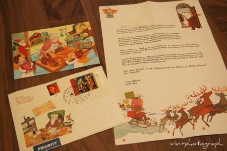 ドイツのブランデンブルクのサンタから手紙が来ました。