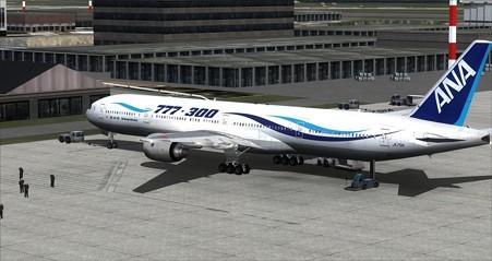 fsx b777-300風塗装 リア